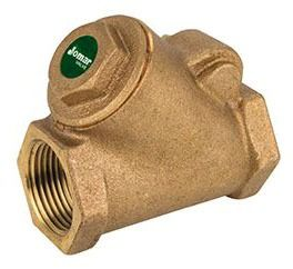 """1"""" Brass Y-Pattern Check Valve - FPT, 300 psi WOG, 150 psi SWP"""