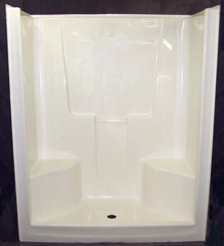 "48 X 77 X 35"" Shower Stall Unit, Gelcoat"