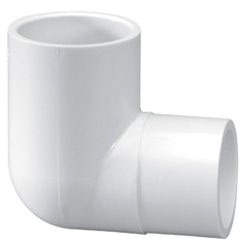 "1-1/4"" PVC 90D Straight Elbow - SCH 40, Spigot x Slip, Street"