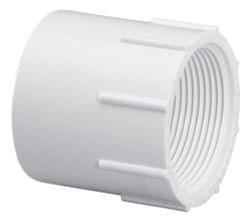 "8"" PVC Female Straight Adapter - SCH 40, Slip x FPT"
