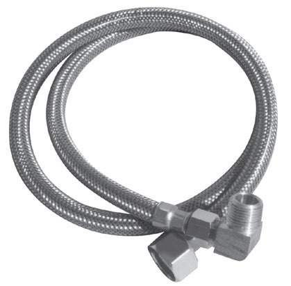 "3/8COMP X 3/8COMP X 72"" Braided Dishwasher Connector, Stainless Steel Reinforced PVC"