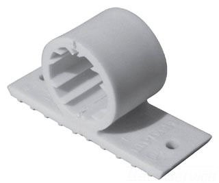 """1"""" CTS Beige PVC Pipe Clamp - Flexi-Fin"""
