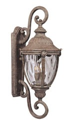 3-Light 40 W Incandescent Outdoor Wall Lantern - Morrow Bay DC, Earth Tone