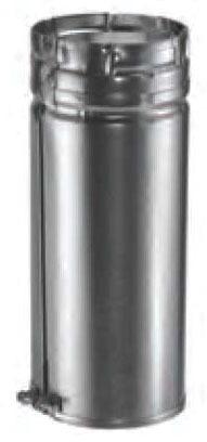 "5"" Round Adjustable Gas Vent Pipe, Galvanized Steel"