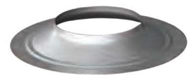 "4"" Round Storm Vent Collar, Galvanized Steel"