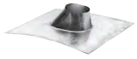 "4"" Round Adjustable Roof Flashing, Galvanized Steel"