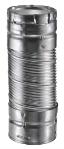 """4 X 2"""" Flexible Double Wall Round Vent Connector, Galvanized Steel"""