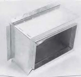 """12"""" x 8"""" Sheet Metal Register Box with Top Flange"""
