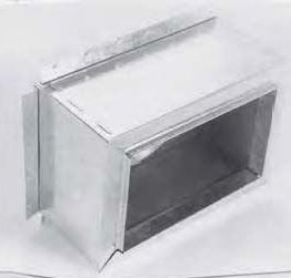 """10"""" x 10"""" Sheet Metal Register Box with Top Flange"""