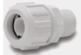 "1"" PVC Male Straight Adapter - Compression x MPT, 150 psi"