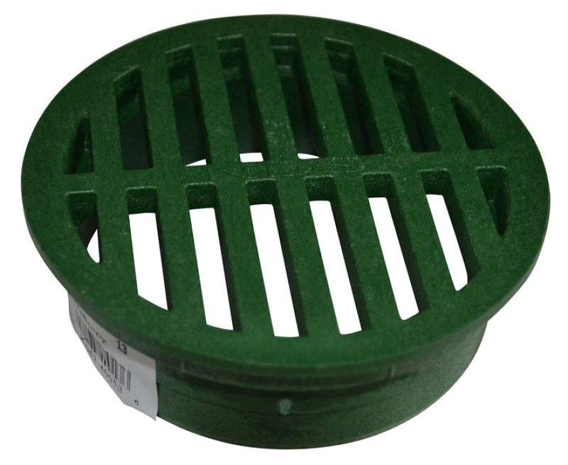 """4-5/8"""" x 1-1/2"""" Round Drain Grate - Green Polyolefin"""