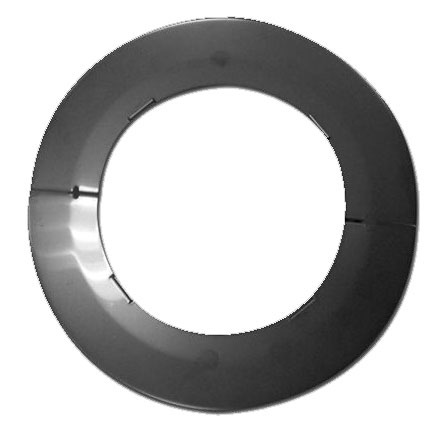 Round Water Heater Vent Faceplate, Stainless Steel