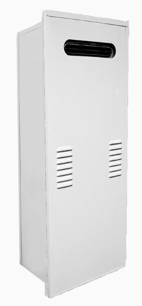 "20.9"" x 10.8"" x 40.9"" Water Heater Recess Box - Powder Coated, Steel"