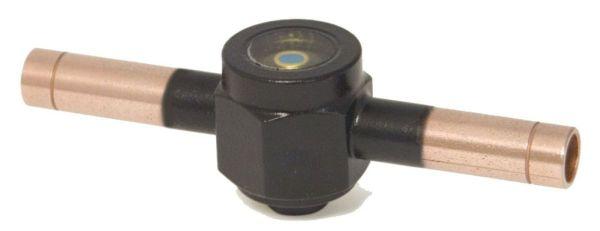 "1/4"" ODF Solder Refrigerant Sight Glass Moisture Indicator - 355 psi"
