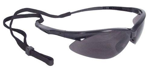 Smoke Lens Safety Glasses - Rad-Apocalypse, Black Frame
