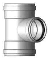 """8"""" x 8"""" x 4"""" PVC Reducing Tee - SDR 35, Gasketed"""