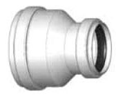 "12"" x 10"" PVC Concentric Increaser Coupling - SDR 35, Gasketed"
