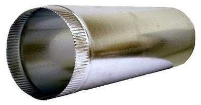"""4 X 5"""" Round Duct Pipe, Galvanized Stainless Steel"""