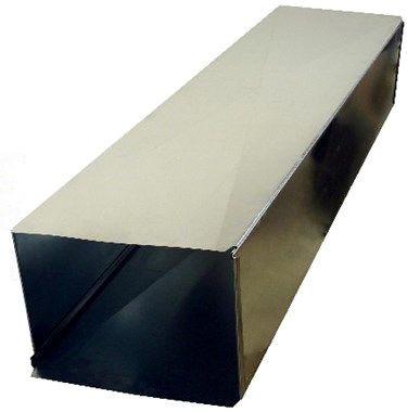 "22 X 8 X 60"" Loose Rectangular Duct Cleat, Galvanized Steel"