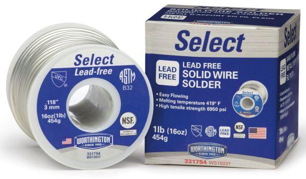 """Solder Wire - Select, 0.118"""" Dia, 419 Deg F"""