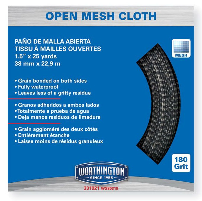 1-1/2 X 10YD Grain Bonded Open Mesh Cloth