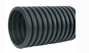 "6"" x 100' HDPE Drainage Pipe - Solid, Regular, Single Wall"
