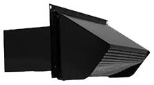 7221361 639 WALL CAP 3-1/4X10  W/DAMPER BLACK