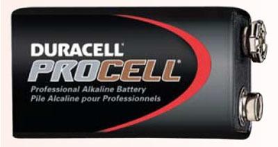 9 V Alkaline Battery - PROCELL