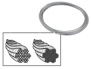 2515055 WC4 1/8in WIRE ROPE (500ft ROLL)