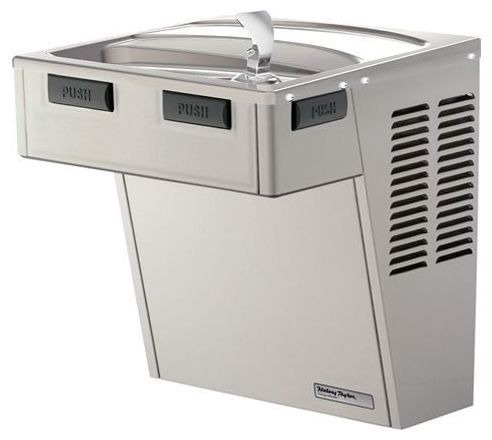 Single Barrier-Free Water Cooler - 8 GPH, Wall Mount, Platinum Vinyl, Non-Filtered