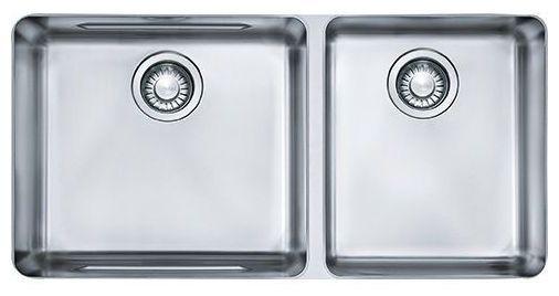 """34-5/8"""" x 17-5/16"""" Undermount Double Bowl Kitchen Sink - Kubus, Stainless Steel"""