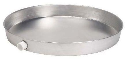 """26"""" Round Water Heater Pan, Aluminum"""