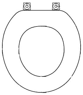 Round Toilet Seat - Closed Front with Cover, Economy Molded Wood