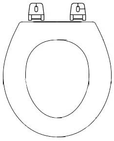 Round Toilet Seat - Closed Front with Cover, Molded Wood