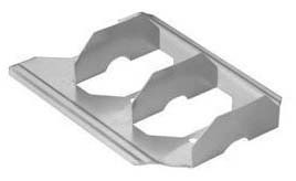 """2"""" Duct Rail, Roll-Formed Galvanized Steel"""