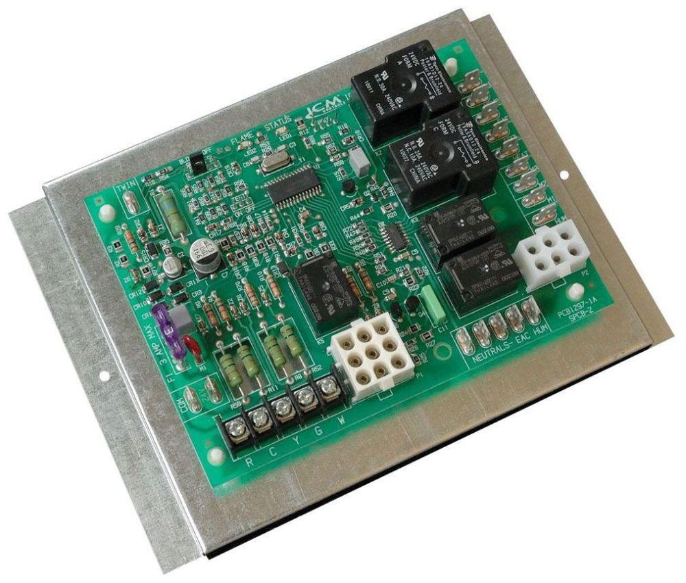 120/240 VAC Furnace Control Board - 5 A 120 VAC Igniter, 4 A 120 VAC Inducer Blower, 1 A 24 VAC Gas Valve, 10 A 2 HP 240 VAC Cool Blower