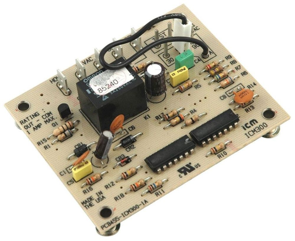 18 to 30 VAC Defrost Control Board - Relay / SPST, 1 A (NO), 10 Min Fixed Defrost