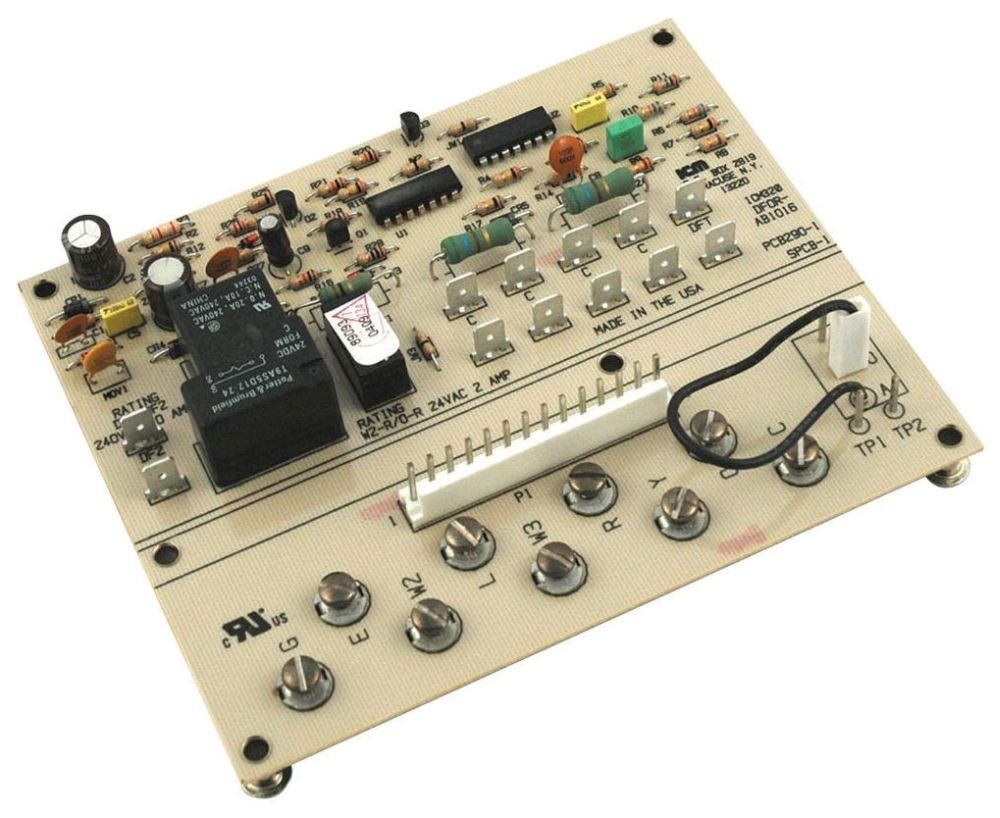 18 to 30 VAC Defrost Control Board - SPST, 1/2 HP Fan at 240 VAC Outdoor Relay Output, 2 A (NO), 10 Min Fixed Defrost