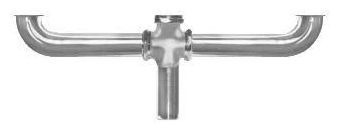 """1-1/2"""" Center Outlet Continuous Waste - Chrome Plated Brass"""