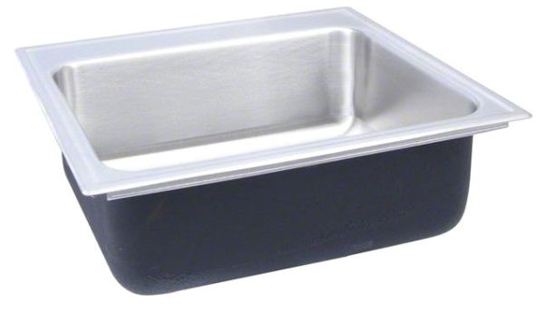 """19"""" x 20"""" Drop-In Mount Single Bowl Kitchen Sink - Grip-Rim Plus, Polished Satin Blended, Stainless Steel"""