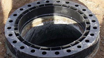 Adjustable Flat Manhole Ring, Polyethylene Recycled Plastic