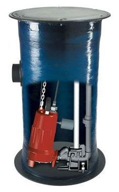 Simplex Single Stage Submersible Grinder Pump Package, Cast Iron