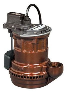 1/4 HP Submersible Sump Pump - Cast Iron, 34 GPM, 115 V
