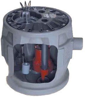 "2"" Hose 115 V 1-Phase 1/2 HP 41 GPM Polyethylene Shallow Basin Sewage Pump System"