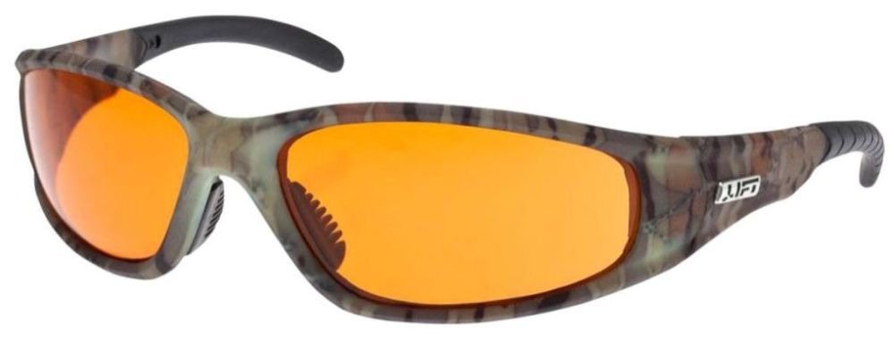 Amber Lens Safety Glasses - Camo Frame