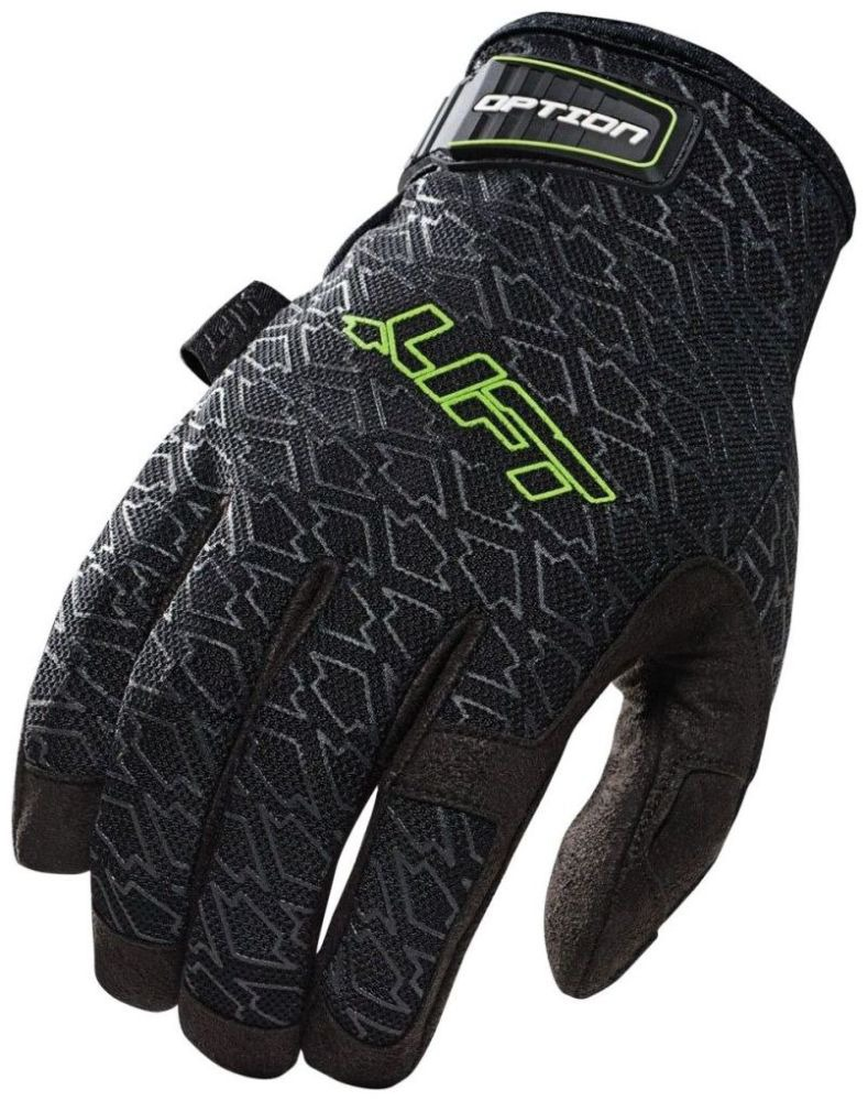 X-Large Black Gloves - Synthetic Leather Palm