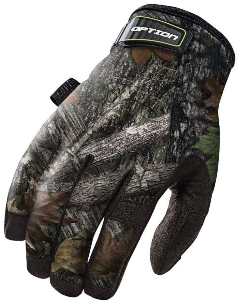 Large Camo Gloves - Synthetic Leather Palm