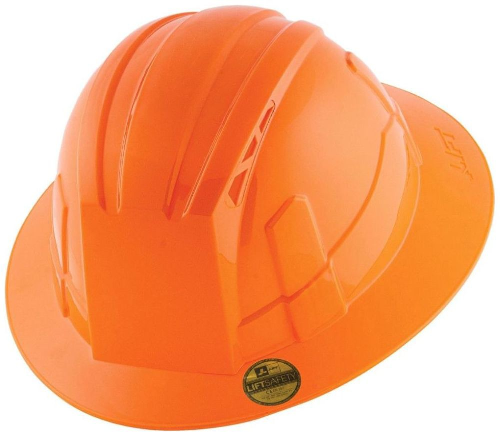Vantis Class C Full Hard Hat, Synthetic Leather