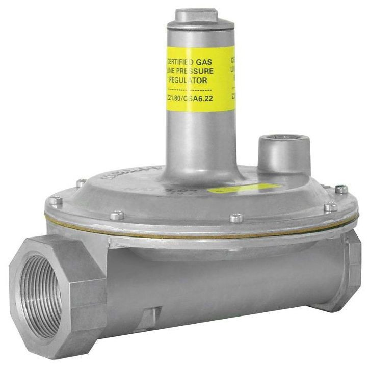 """1-1/4"""" Aluminum Line Pressure Regulator - FPT, 2 psi, 8"""" WC"""