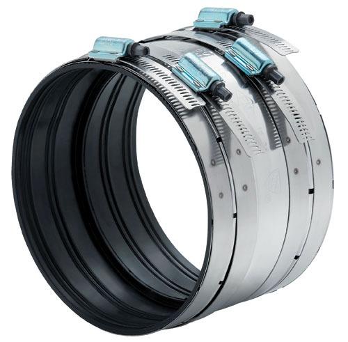 "2"" Chromium Nickel Stainless Steel Heavy Duty Repair Coupling - Clamp-All / Hi-Torq, 3"" Width, 1-Piece"